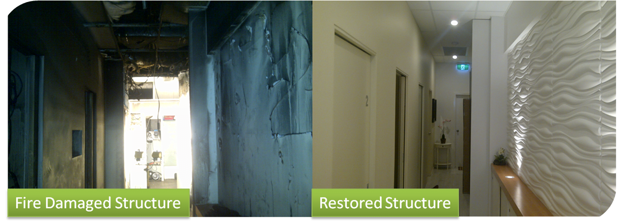 Fire Damage Restoration Showcase